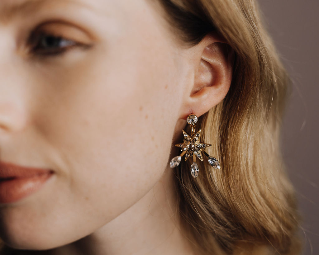 Tilly Thomas Lux Aurora Star Drop Earrings