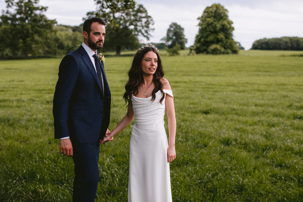 Gorgeous bride Nancy wore a crown by Tilly Thomas Lux   Image by Craig Williams