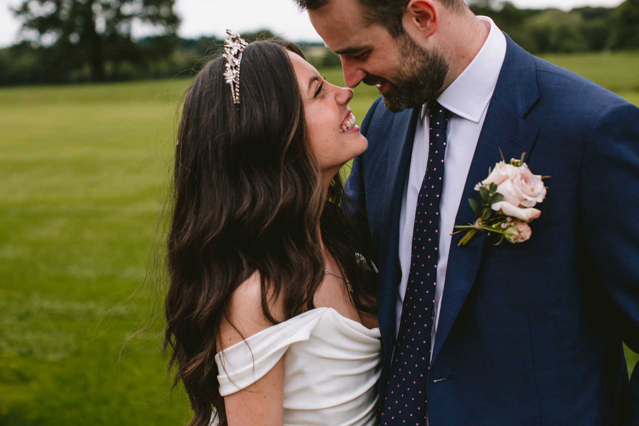 Gorgeous bride Nancy wore a crown by Tilly Thomas Lux | Image by Craig Williams