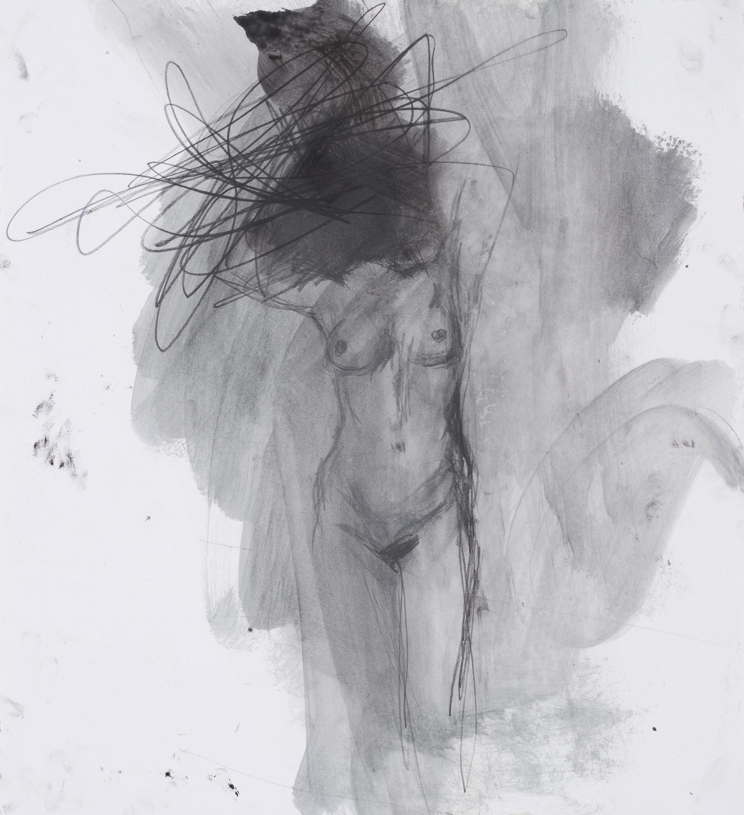 2017, Eros couronné de roses 7, 45,5 x 50 cm.jpg