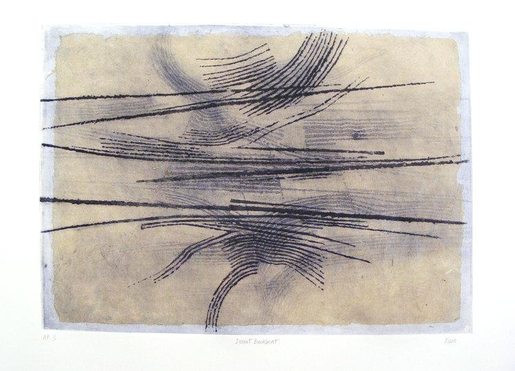 """""""Desert Backbeat"""", Chine-collé print, 2011, by John Eaves"""
