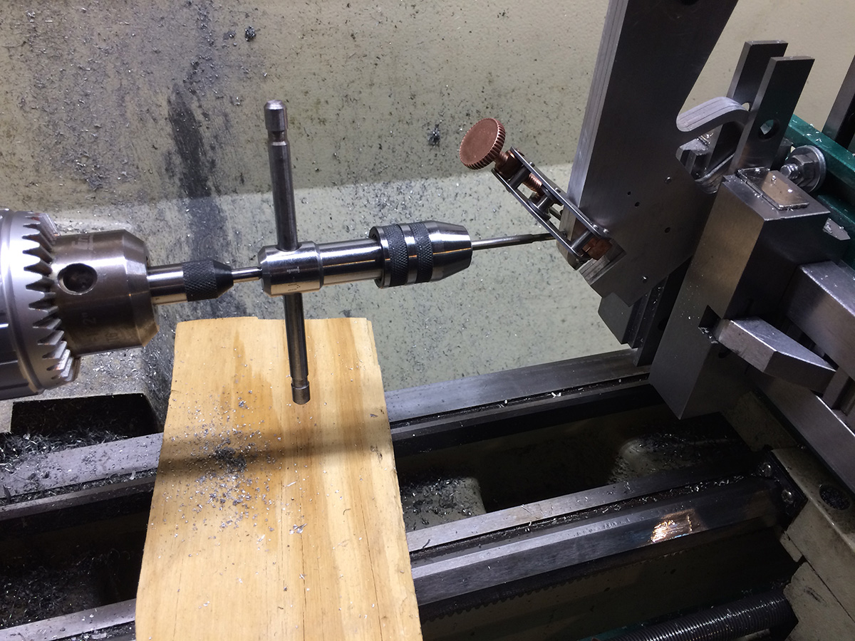 Drilling and tapping the grip frame