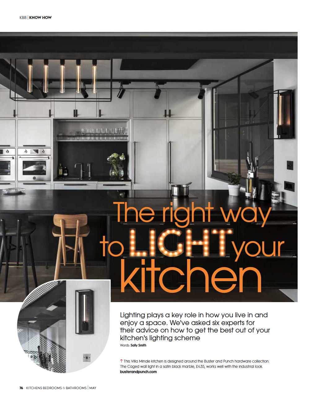 Eleanor Bell Kitchens, Bedrooms & Bathrooms May 2018 Kitchen Lighting 1