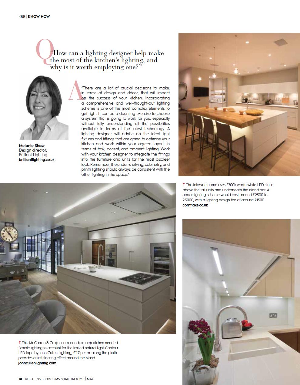Eleanor Bell Kitchens, Bedrooms & Bathrooms May 2018 Kitchen Lighting 3