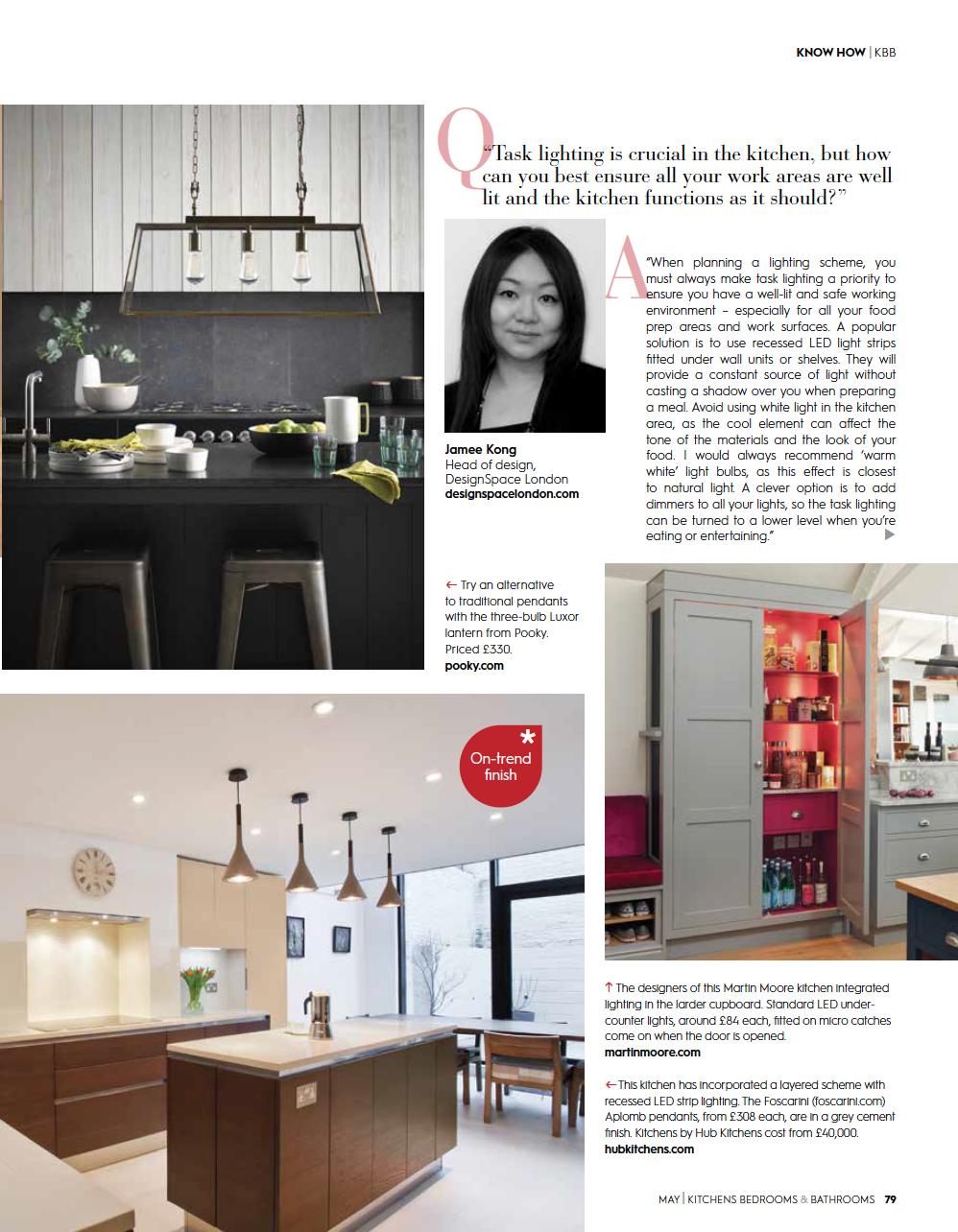 Eleanor Bell Kitchens, Bedrooms & Bathrooms May 2018 Kitchen Lighting 4