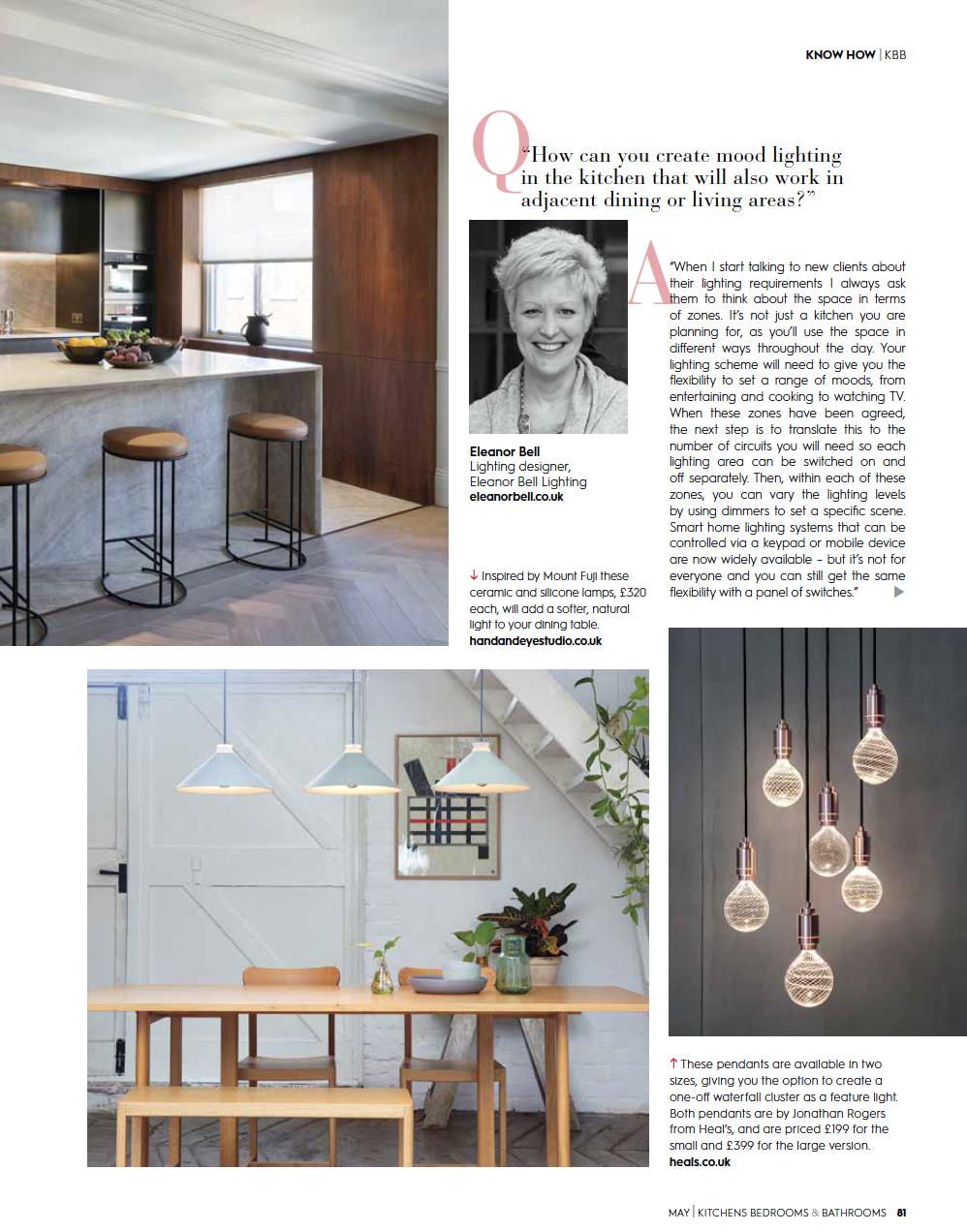 Eleanor Bell Kitchens, Bedrooms & Bathrooms May 2018 Kitchen Lighting 6