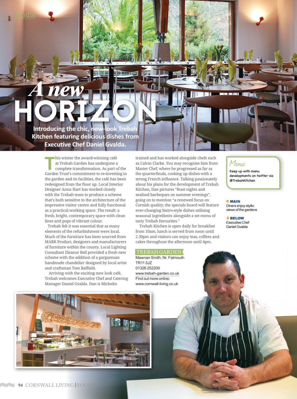 Eleanor Bell Foodie Magazine Issue 18 Trebah Restaurant