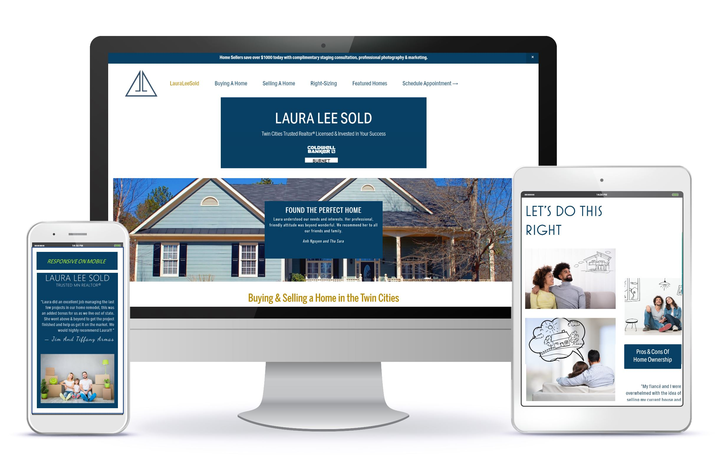 Realtor reaches growing market with strategic website content and an affordable, great-looking, Squarespace Website design by Melinda Bak