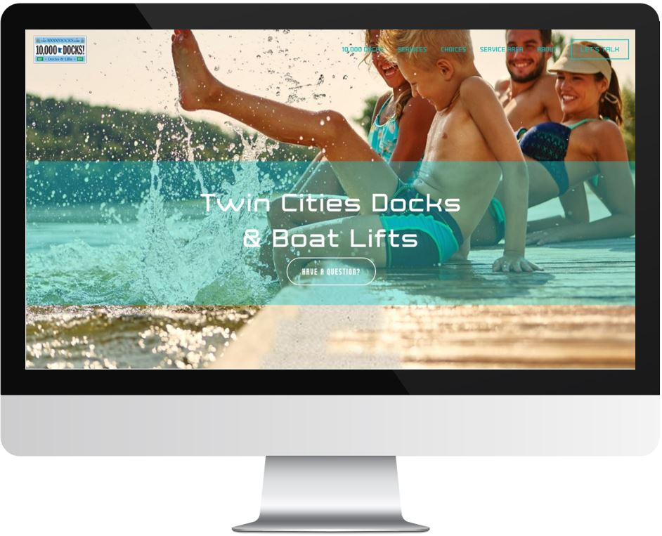Squarespace Websites for Construction Companies - 10,000 Docks Summer