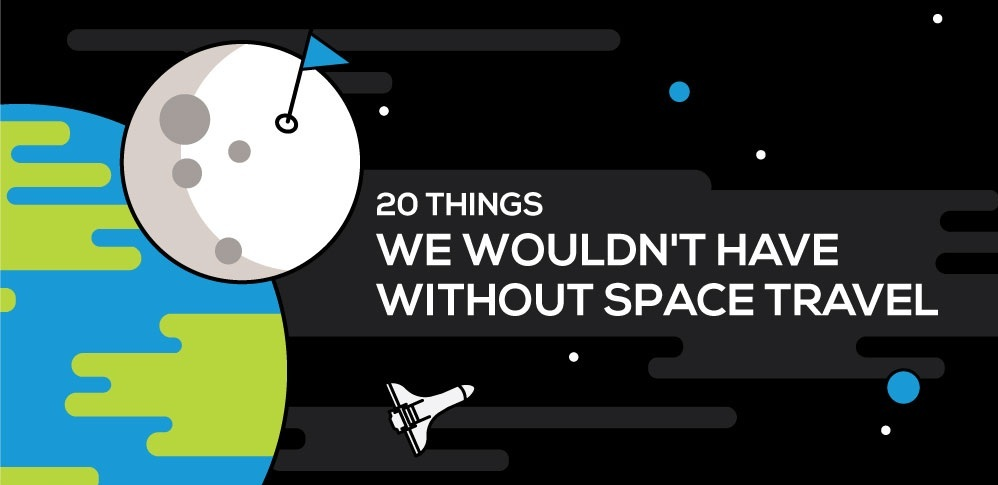 Apollo 11 Moon Landing - 50th Anniversary - 20 things we wouldn't have without space travel