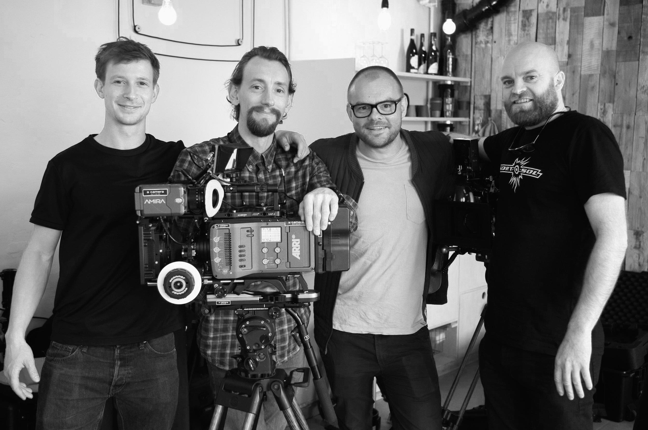…..from left:  Gustav Meiling, Rasmus Gaardhøje, Kasper Bylov and Lars Krogsgaard