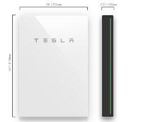 Tesla Powerwall 2 dimensions
