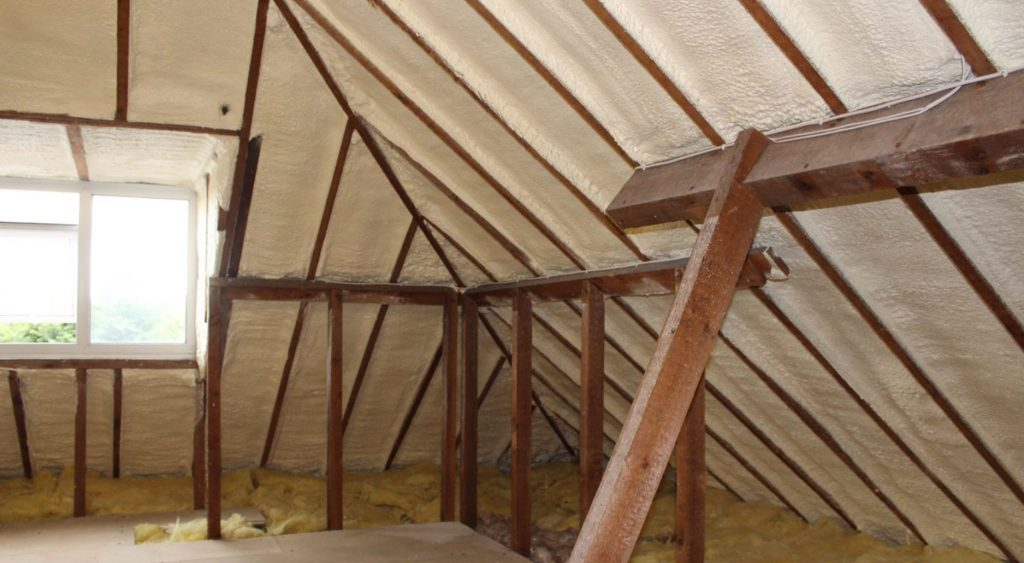 spray foam insulation in loft