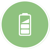 Battery storage for solar icon