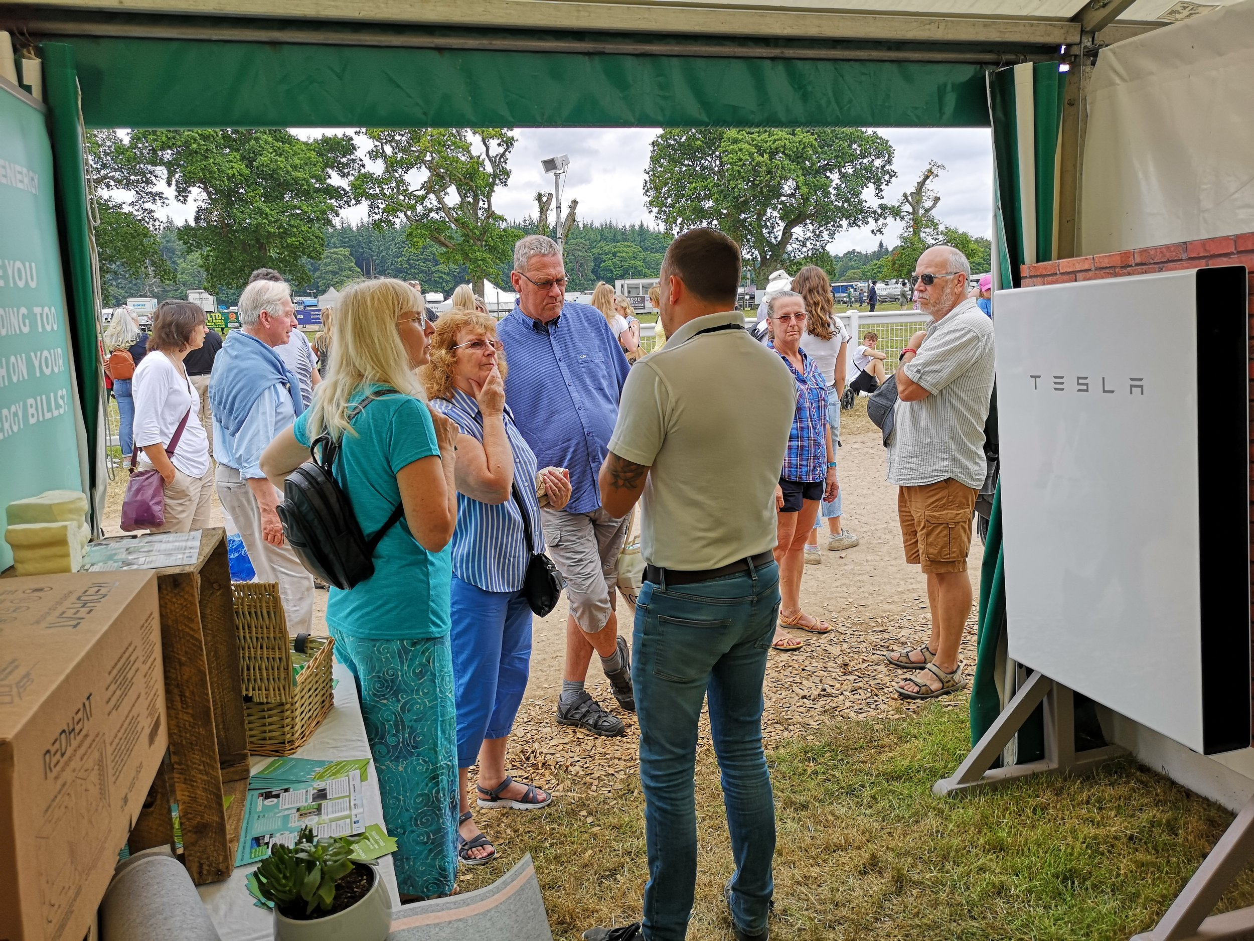 Daylight Energy MD David Humphriss updating New Forest Show visitors on the latest Renewable Energy Technologies