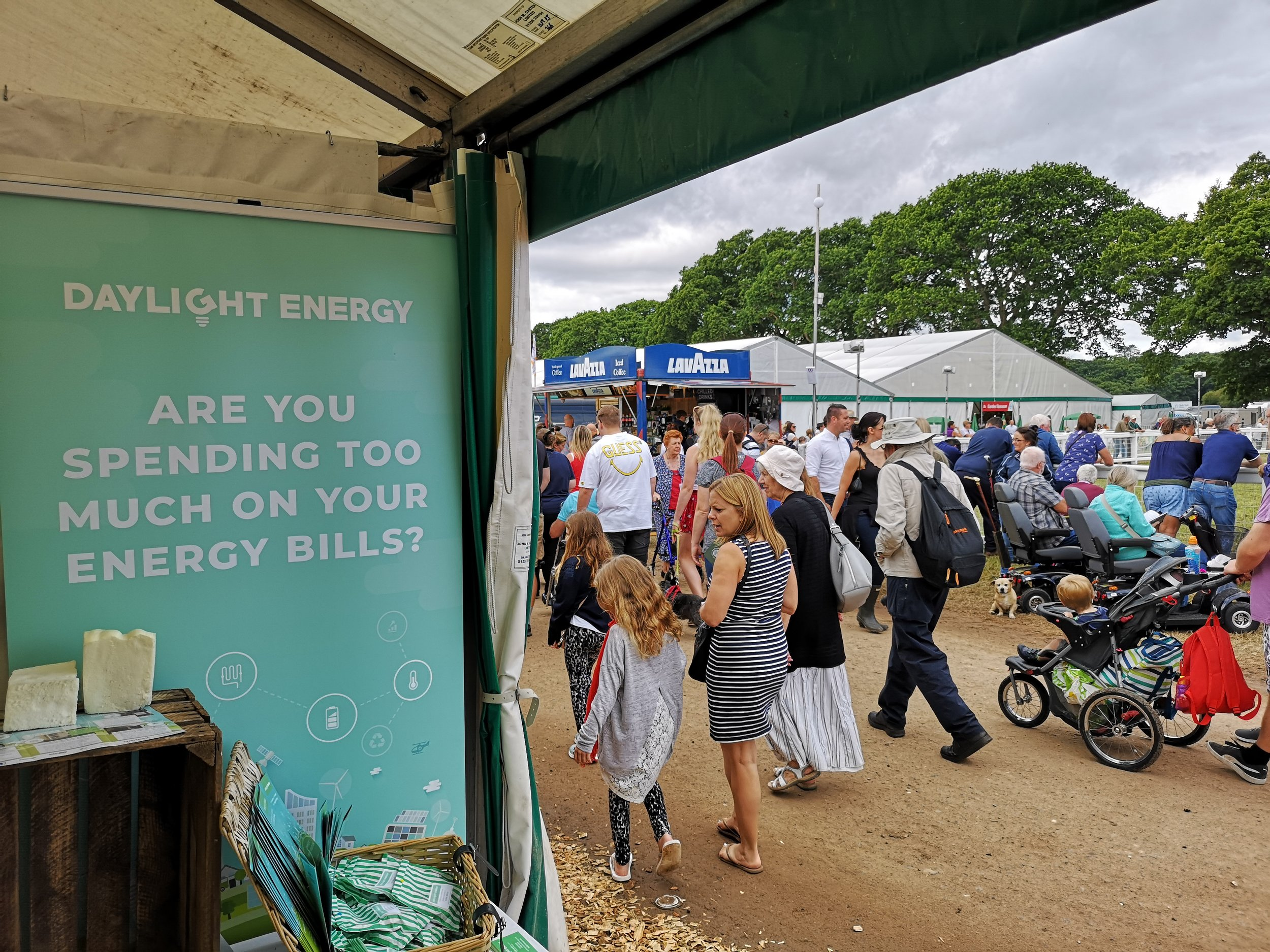 The Daylight Energy team were happily positioned along Northern Avenue, opposite the North Ring of the New Forest Show