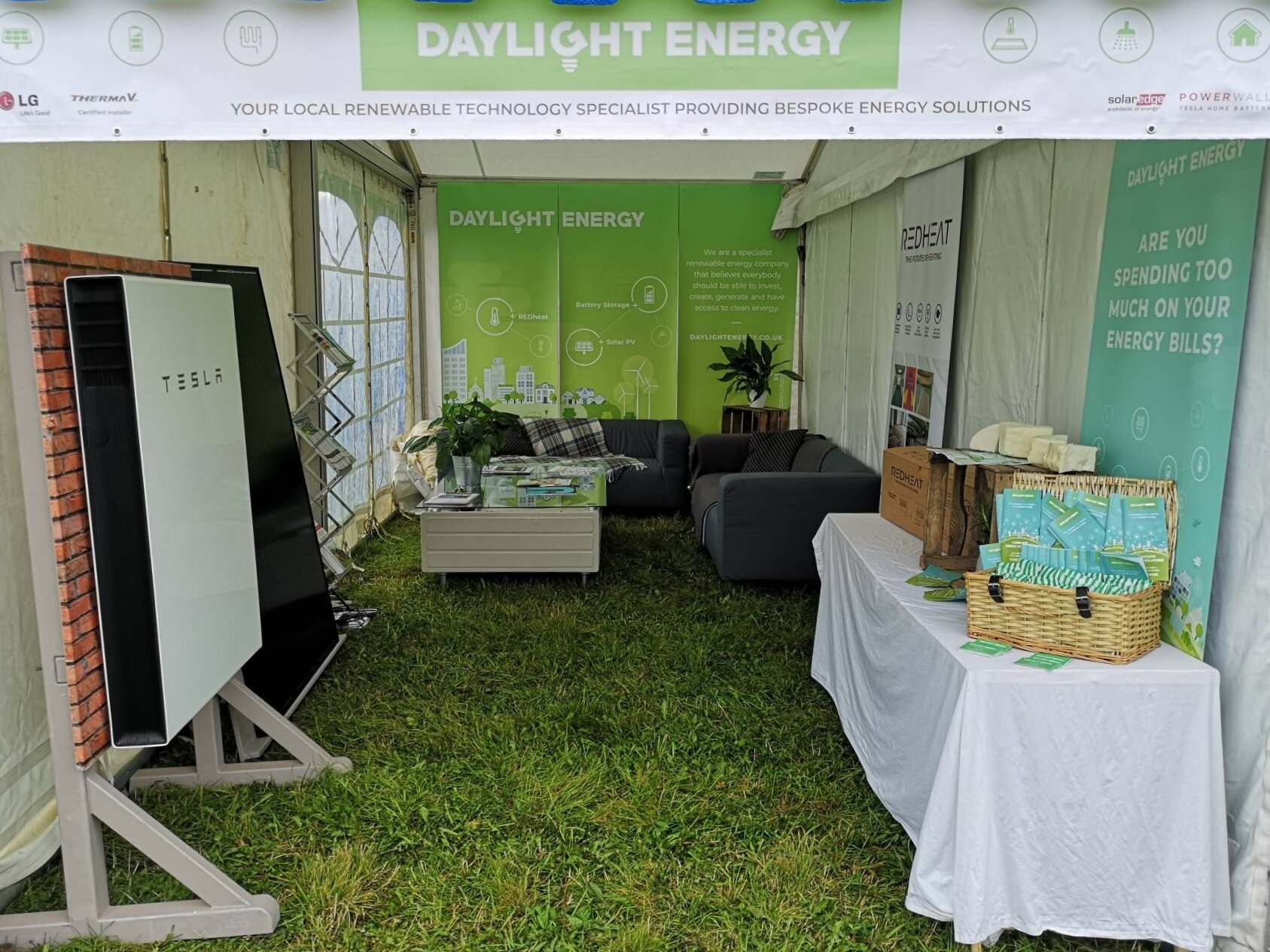 Our stand at the Dorset County Show 2019