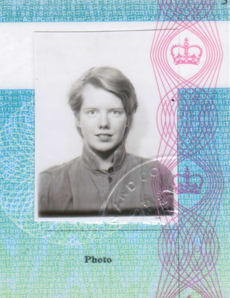 Emma's passport photo, aged 20.