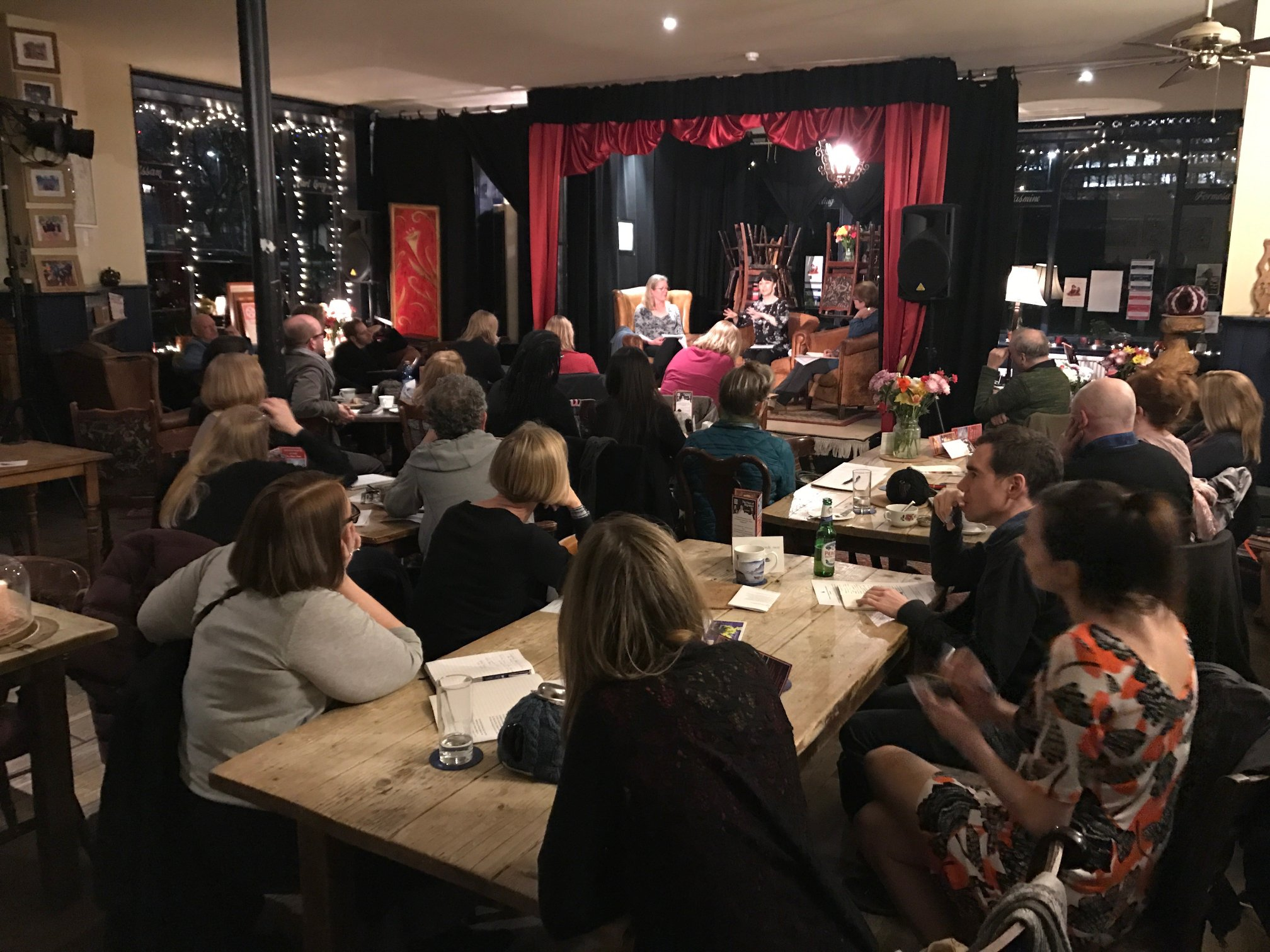 A typical Words Away Salon - this one was with Essie Fox, talking all things historical fiction
