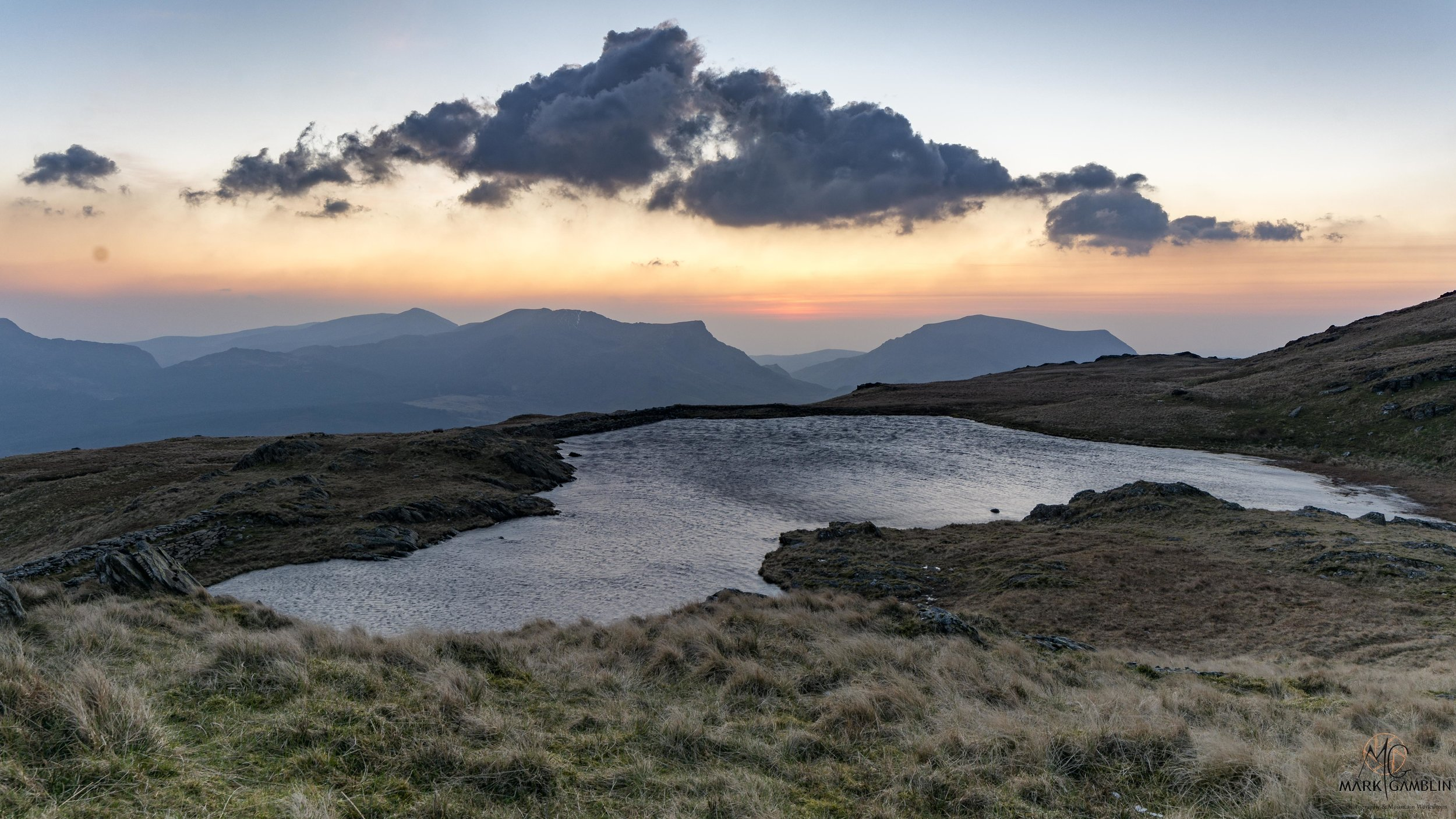 The little nameless lake at 600m just below Allt Maederyn, on the west flank of Snowdon