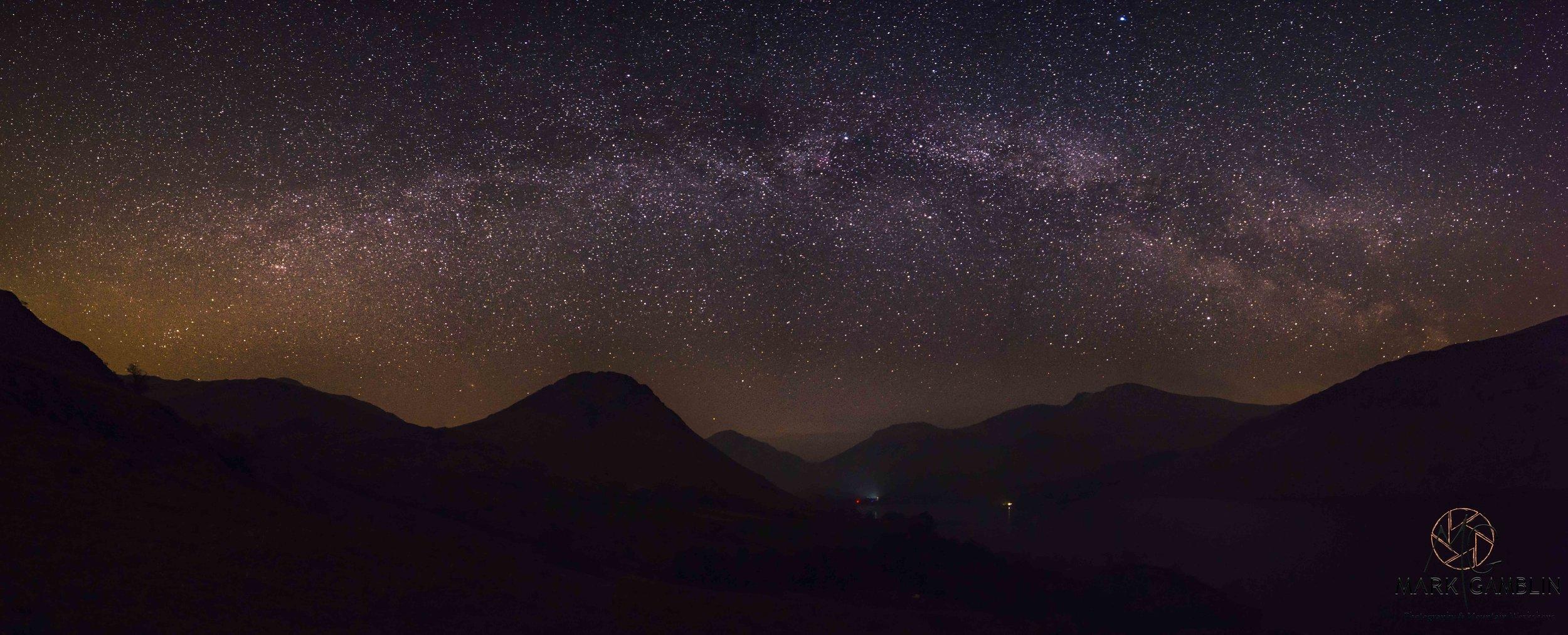 Wasdale Head Milky Way Panorama