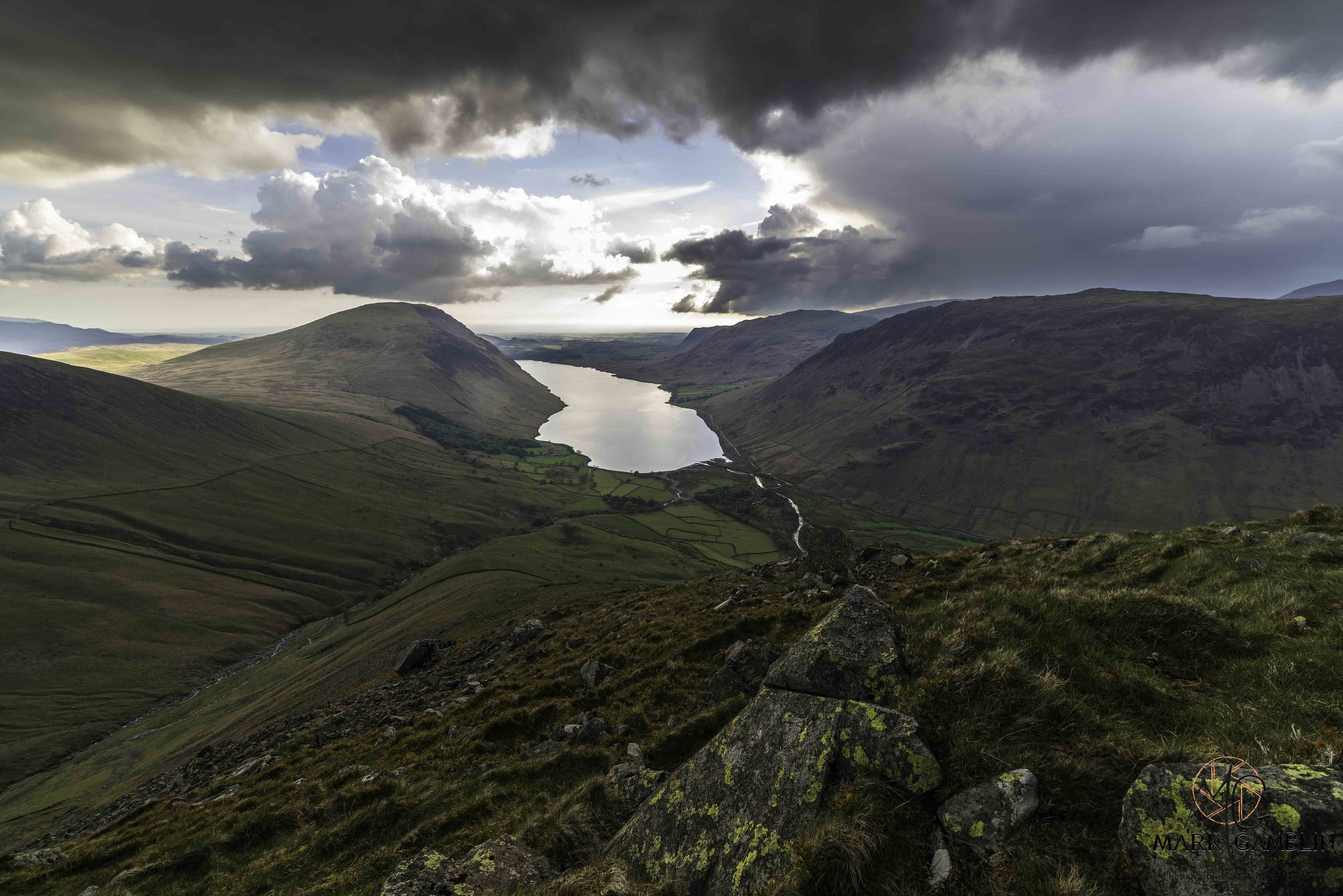 Looking down over Wastwater from Lingmell.