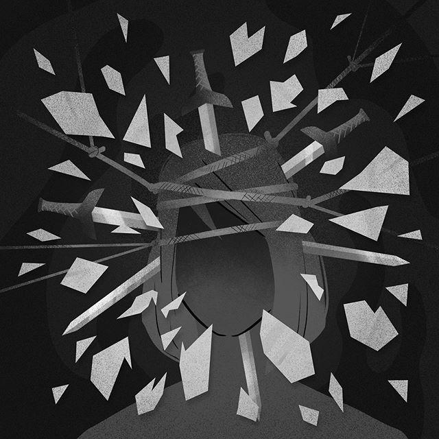 Trying to draw how I feel when I get a migraine. Fun huh? Illustrating pain is interesting though. . . . #pain #migraine #headache #migrainerelief #intense #selfportrait #autoportrait #portrait #girl #woman #portraitillustration #grainyillustration #grainy #texture #illustratorsoninstagram #illustration_best #illustration_daily #illustrationoftheday #illustrationnow #illustrationhowl #illustrationfriday #fridaydrawing #ilustracja #polskailustracja