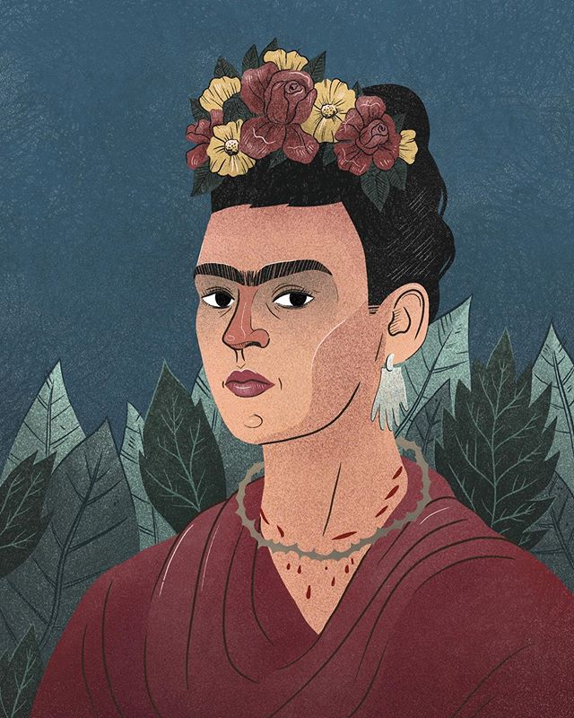 So I decided to try something new and maybe you'd like to join. Let's try drawing classical works of art in our styles. I'll start - Frida Kahlo, Self portrait dedicated to Dr. Eloesser (1940) . . Use hashtags #drawclassicsinyourstyle so we can all see how you see Frida! . #drawingpractice #drawingchallenge #drawfridainyourstyle #drawthisinyourstylechallenge #drawdrawdraw #grainyillustration #grainy #texture #illustratorsoninstagram #illustration_best #illustration_daily #illustrationoftheday #illustrationnow #illustrationhowl #illustrationfriday #fridaydrawing #ilustracja #polskailustracja #classicalart #classicalpainting