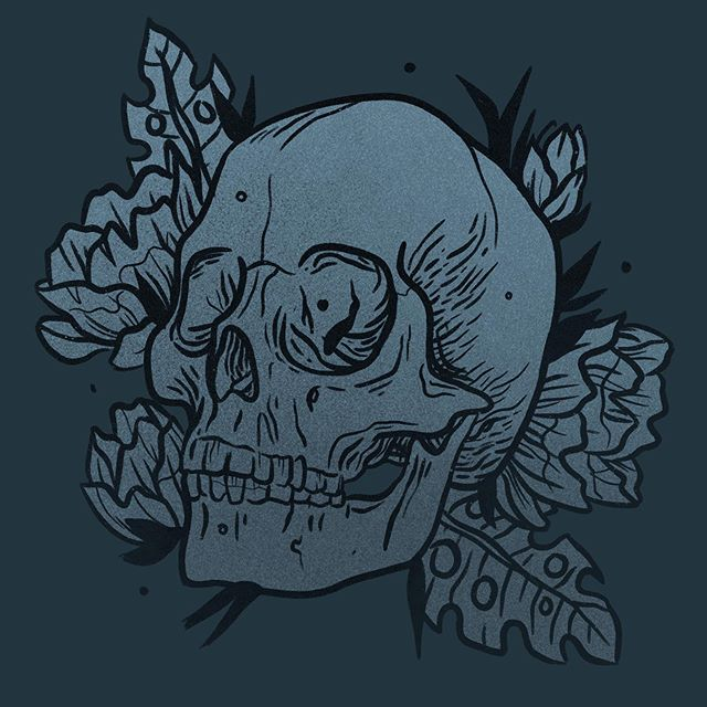 Trying out if I still remember my old ways with strong lines and skulls. . . . . #skulltattoo #oddities #cabinetofwonders #skull #skulltattoo #flower #flowers #magnolia #leaves #chesttattoo #dark #lines #sketchbook #drawing #blackandwhite #art🎨 #graphic #blackworkerssubmission #illustration #iloveillustration #tattoo #tattoodesign #flash #blackworkillustrations #darkartists #blackworknow #onlythedarkest #tempuradesign