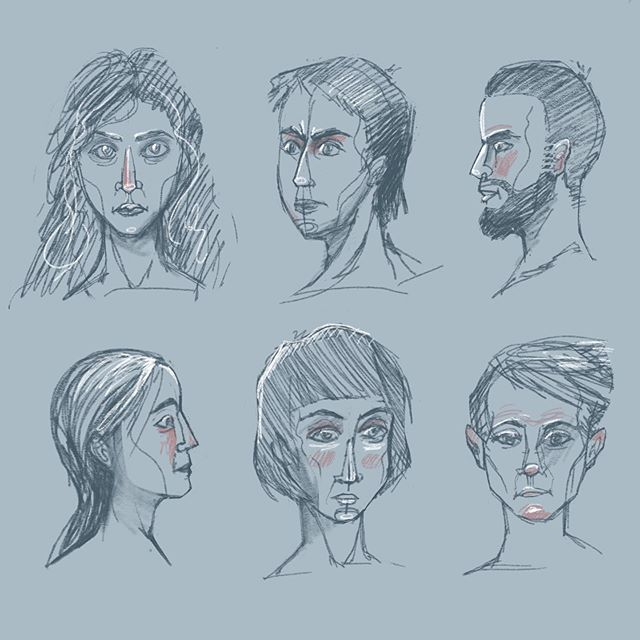 Just some quick sketches I did for breakfast (there was also food, don't worry). . . . #sketchbook #sketching #sketchingdaily #sketch_dailydose #sketcheveryday #portrait #portraitillustration #girl #woman #womenofillustration #bluehair #blueskin  #sad #sadportrait #illustratorsoninstagram #illustration_daily #illustrationoftheday #illustrationhowl #illustrationdaily #ilustracja