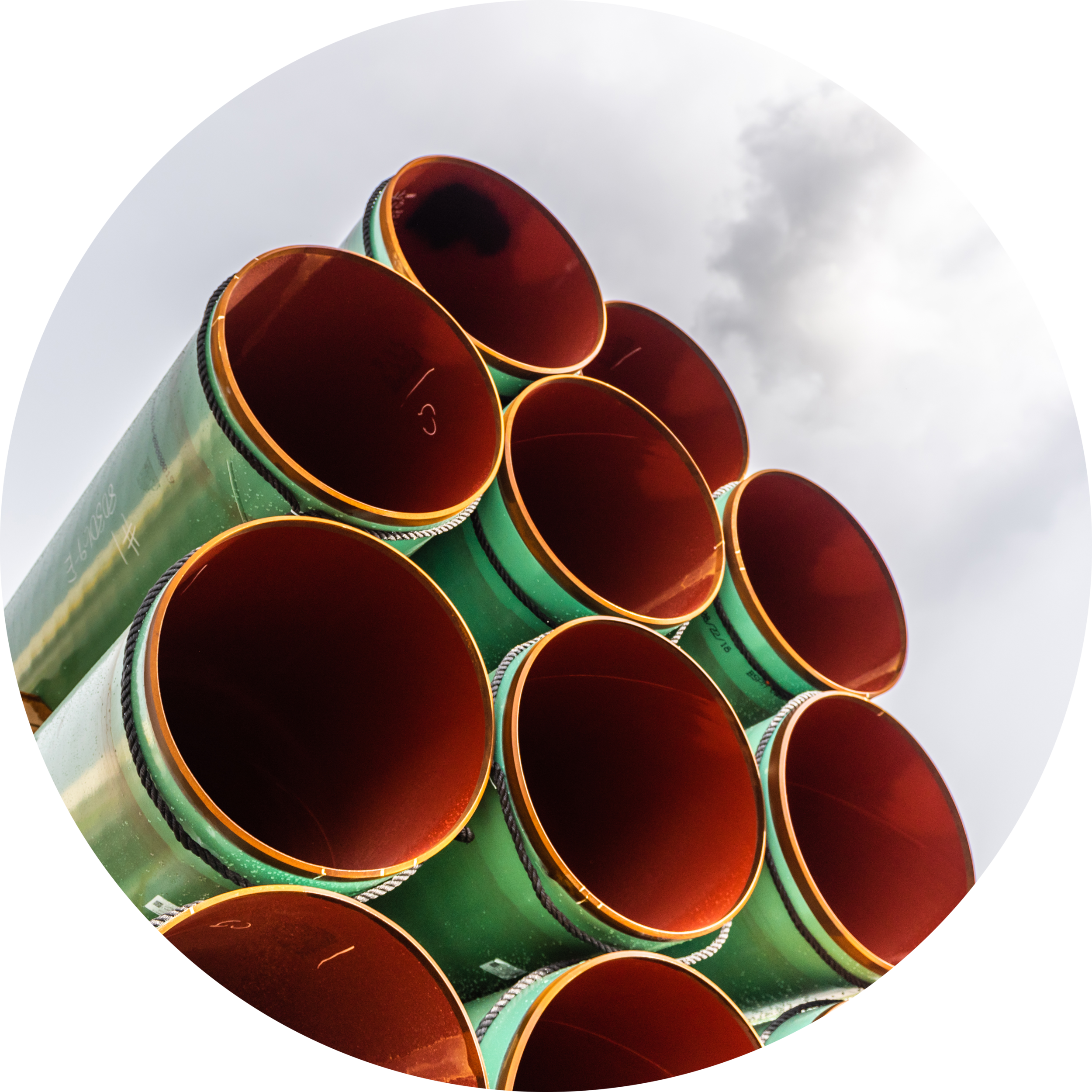 Pipes Loaded on a Train at Mobile Mill