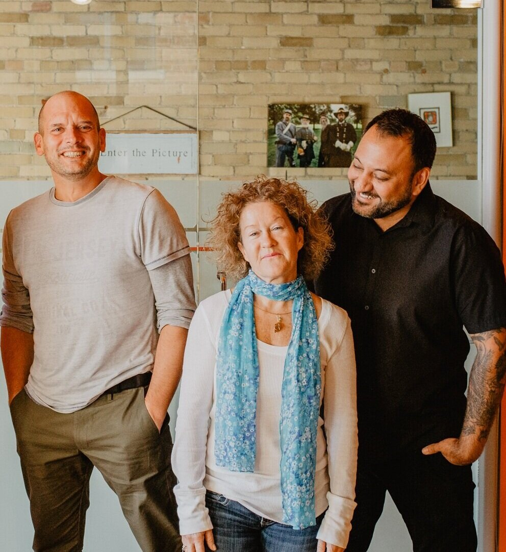 Left to Right: Sergio Gallinaro, Dee Dee Peel, Alex Kane