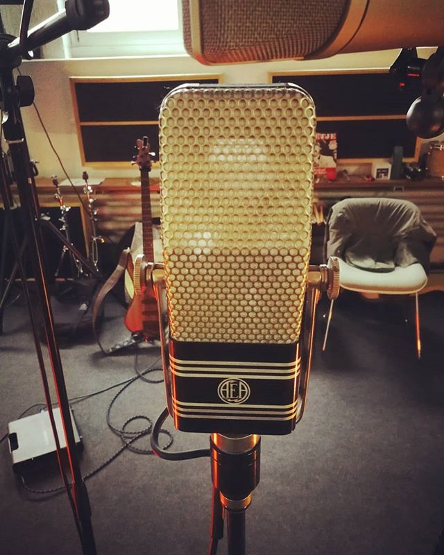 Yesss, we are in the studio again! 😁 And with us, the #aearc44, the microphone mr. @elvis presley did a lot of his studio recordings with! 😍🎤 #memoryofanelephant #band #folk #amaricana #bluegrass #olten #zofingen #acoustic #onemic #studio #recording #newtunes #microphone #newEP #banjo #mandolin #tailorguitar #mayonesbass #elvispresley
