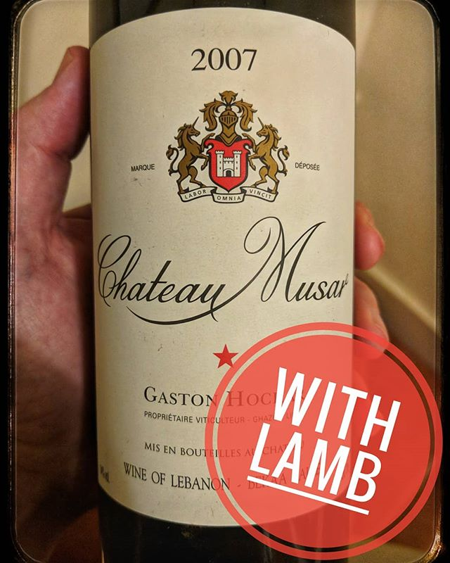 A nice juicy lamb dish required a trip to the wine fridge for this bad boy. Mellow red fruit with spice and oak. #wine #winestagram #instawine #winenerd #sommelierlife #sommelierlife #winelovers  #winegeek #wineshop #winebar #winemerchant #winestore #tastingroom #winetasting  #hitchin #herts #wineexpert #wineeducation  #wineeducator #uva #winelover #hertfordshire #Hospitality #bar #winelist #wineevents #chateaumusar