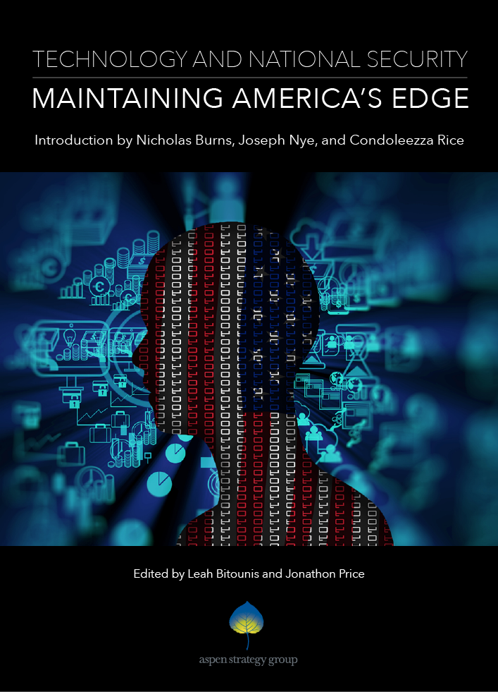 Technology & National Security - This edition is a collection of papers commissioned for the 2018 Aspen Strategy Group Summer Workshop, a bipartisan meeting of national security experts, academics, private sector leaders, and technologists. The chapters in this volume evaluate the disruptive nature of technological change on the US military, economic power, and democratic governance. They highlight possible avenues for US defense modernization, the impact of disinformation tactics and hybrid warfare on democratic institutions, and the need for a reinvigorated innovation triangle comprised of the US government, academia, and private corporations. The executive summary offers practical recommendations to meet the daunting challenges this technological era imposes.NOW AVAILABLE!Book are available for purchase at Politics and Prose, 5015 Connecticut Ave NW, Washington, DC 20008 and online.