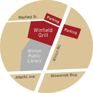Where to park at Winfield Grill in Rochester, NY