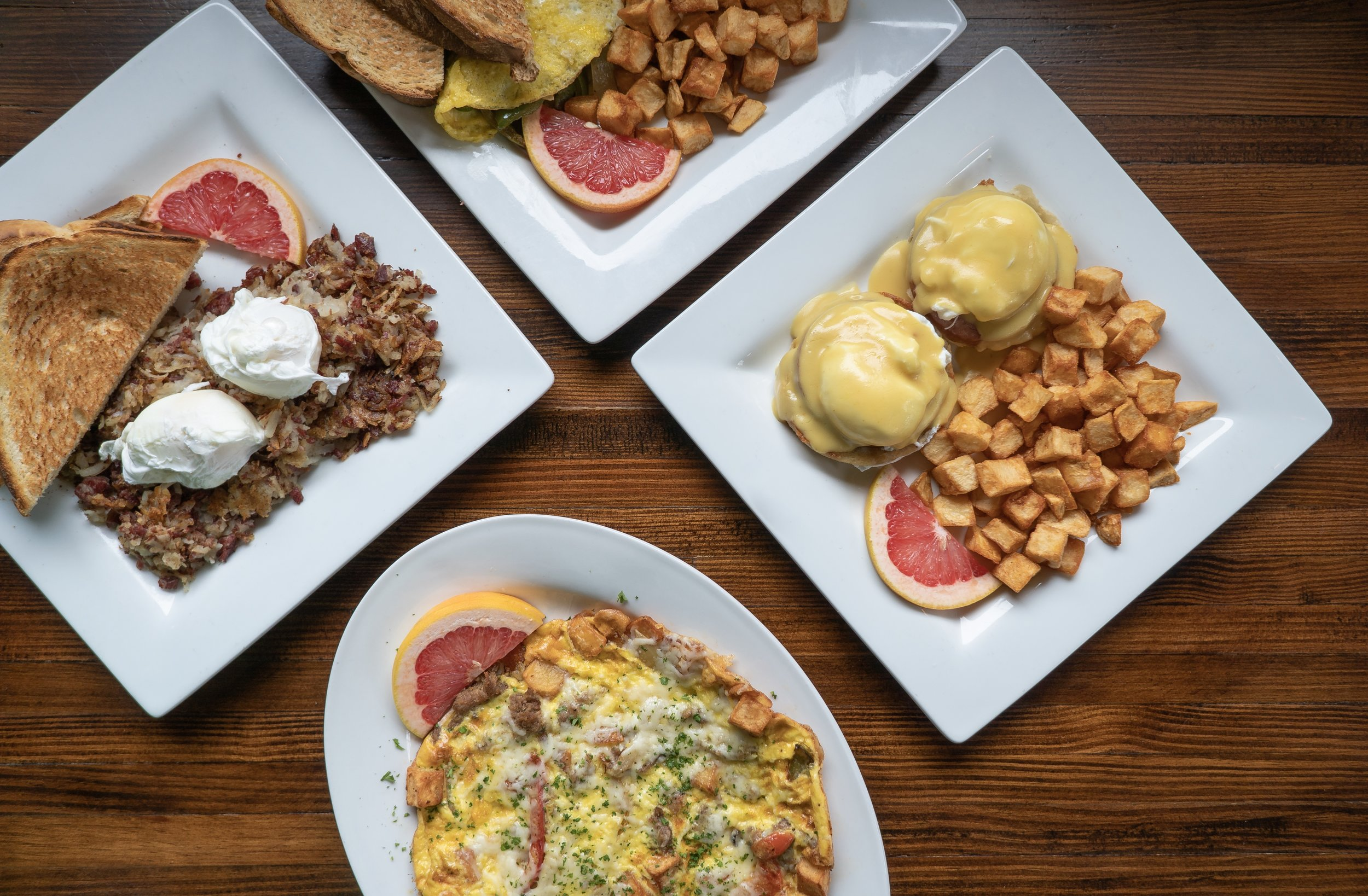 Winfield Grill has a variet of Brunch Options from Omelettes to Corned Beef Hash and more.