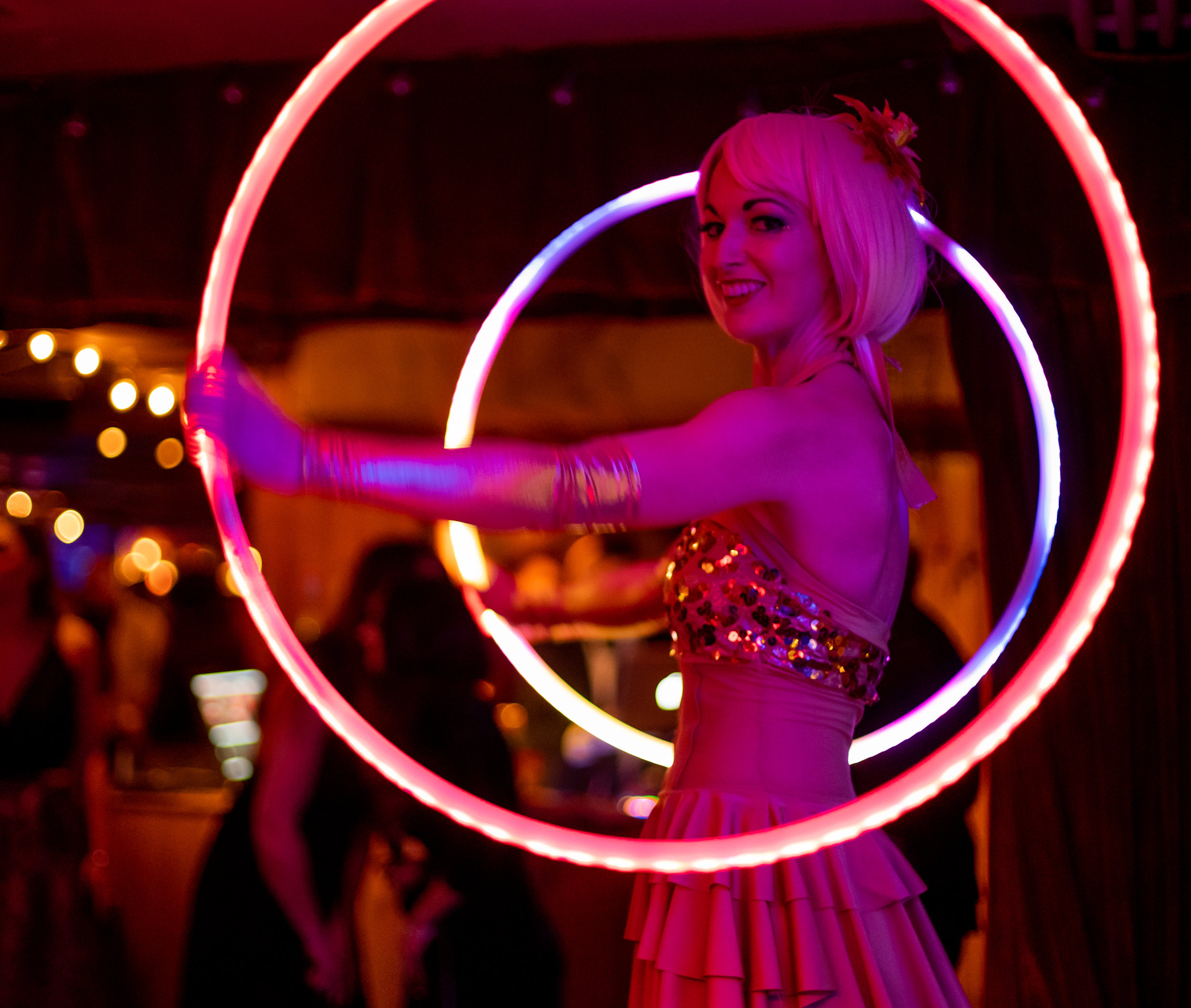 Glow Artists - Glow performers add a little extra shine to any event! They're a fabulous way to add flashy flow art to nightlife experiences, high-tech functions, and holiday parties.Photo courtesy of Beren Jones