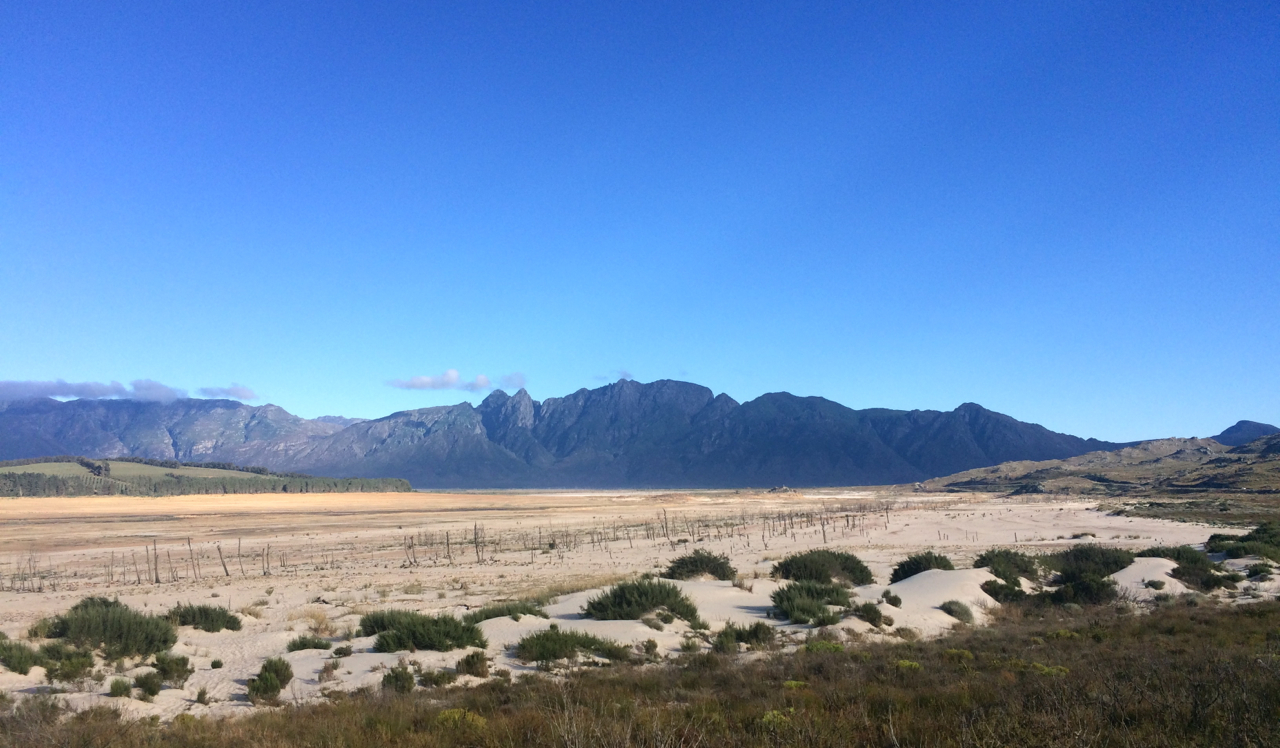 The empty Theewaterskloof Dam in March 2018, and little hope of more rain this winter.