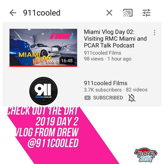Check out @911cooled on YouTube for their DRT 2019 coverage! Day 2 has our friends at RMC Miami giving a tour.  @rmcmiami #vlog #drt2019 #rmcmiami #porsche