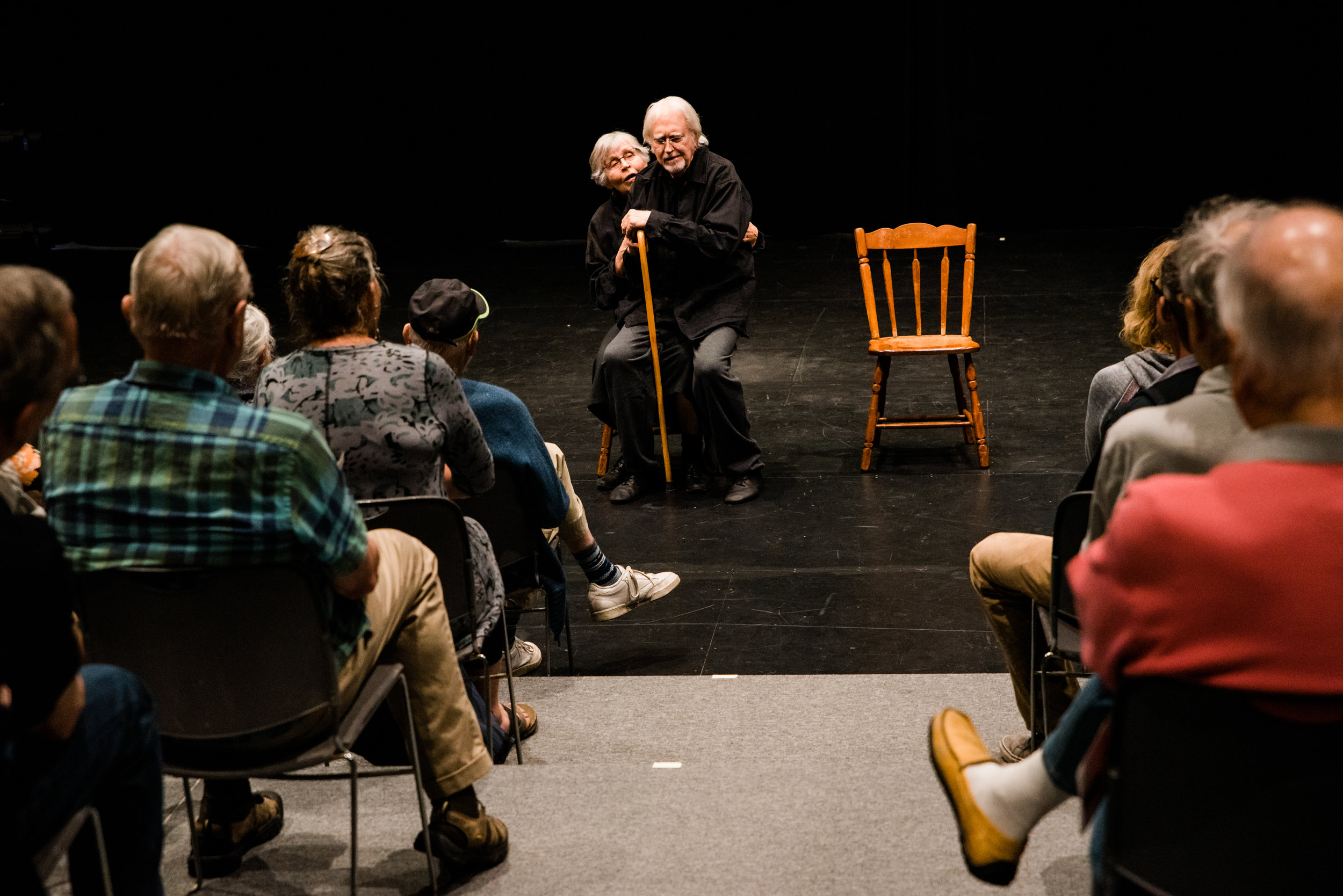 Ionesco's The Chairs - The Chairs performed at PS21 in Chatham NY in 2018, and was performed by Ted Pugh and Fern Sloan, with Ragnar Freidank directing.