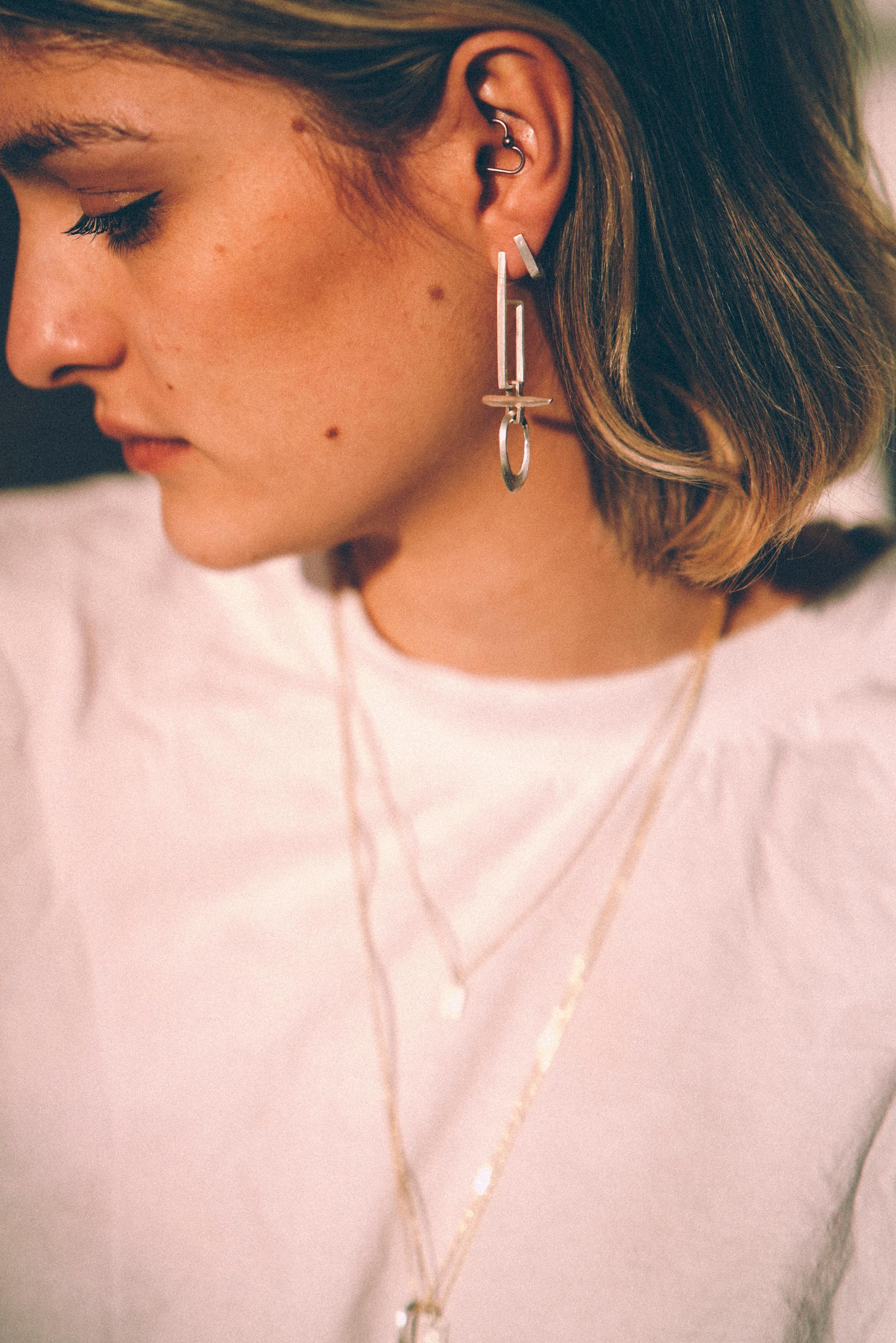 Sectional Drop Earrings
