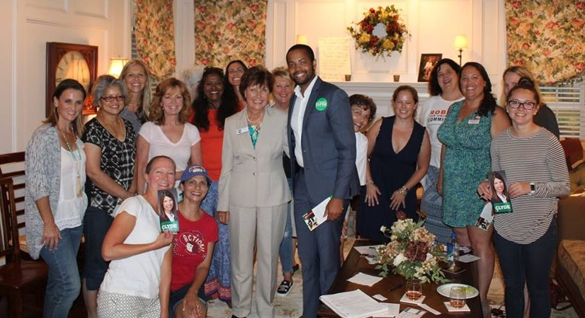 Janet Garrett, founder of the Jordan Watch, with supporters in Union County, Ohio