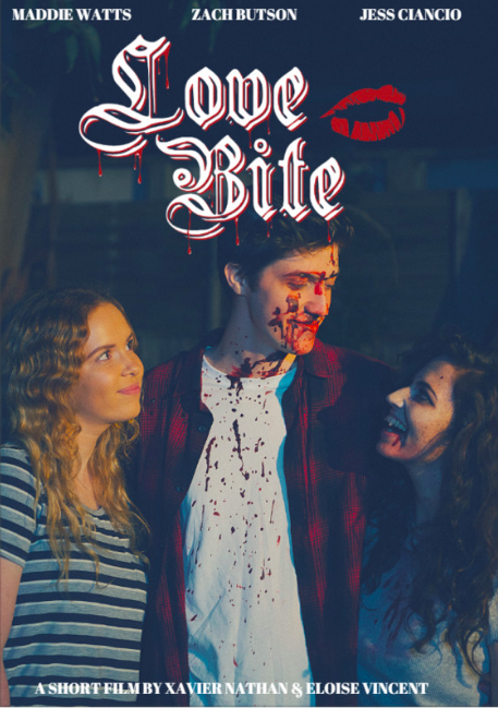 Love Bite   -  Xavier Nathan   - Melbourne, Australia    Love Bite is a short dark vampire comedy. It follows Charlie, a young guy grappling with the death of his Mother, and the apparent death of his girlfriend.