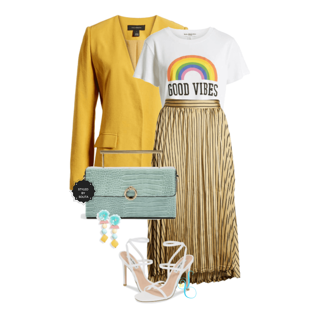 Good Vibes Only! - Pleated skirts are definitely trending now. You can dress them down with sneakers and denim jacket or dress them up for a fancier look.