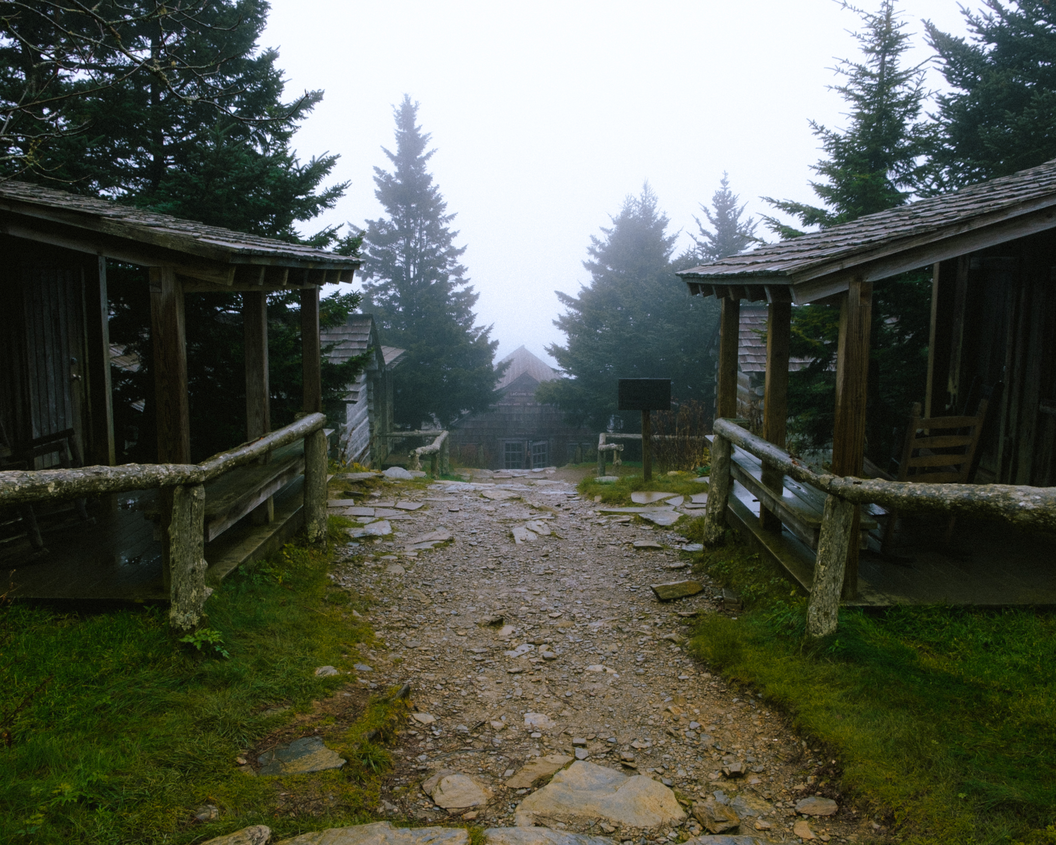 Cabins on the top of the mountain