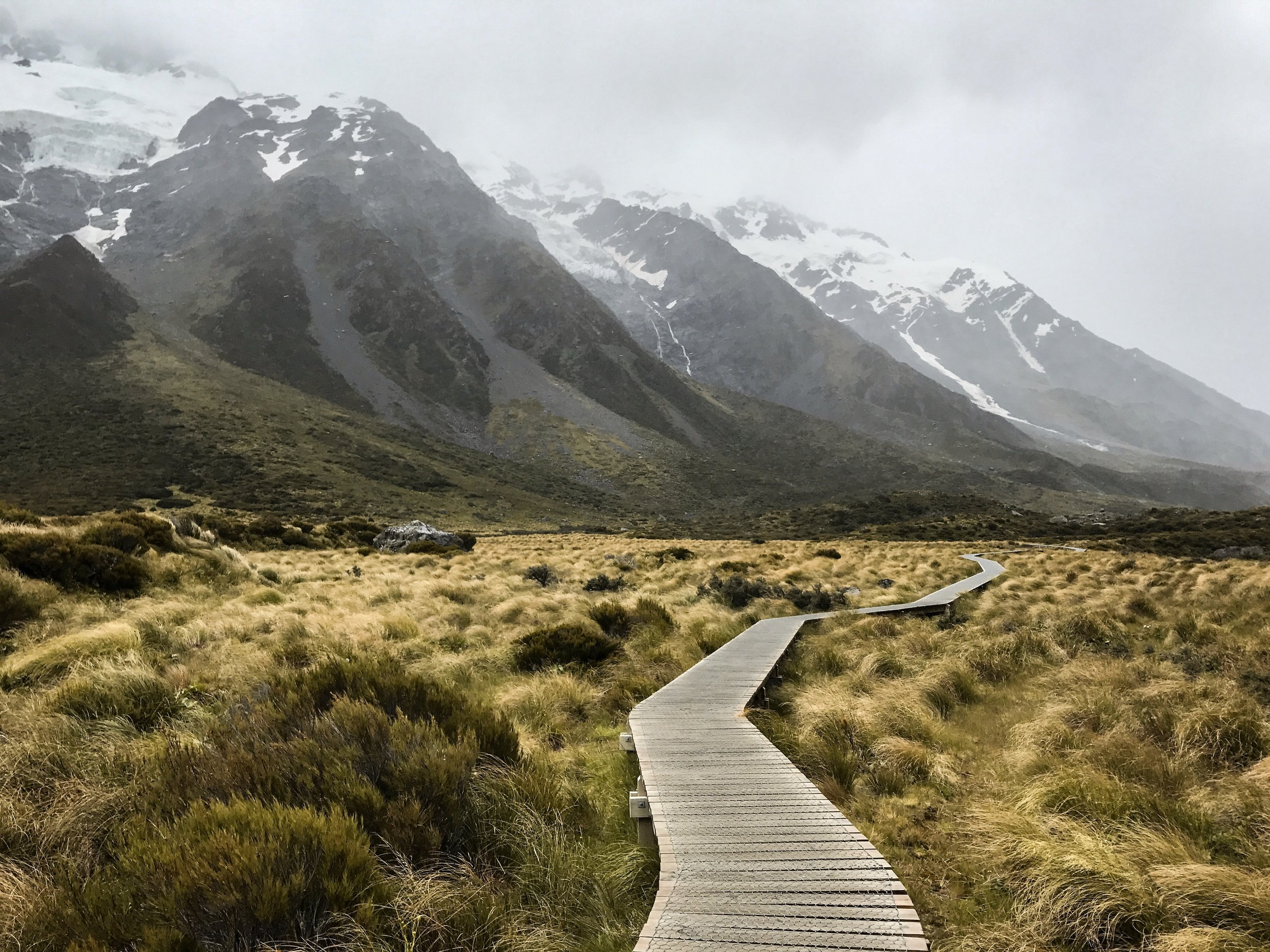Hiking through New Zealand. Photo by Dalton Perry