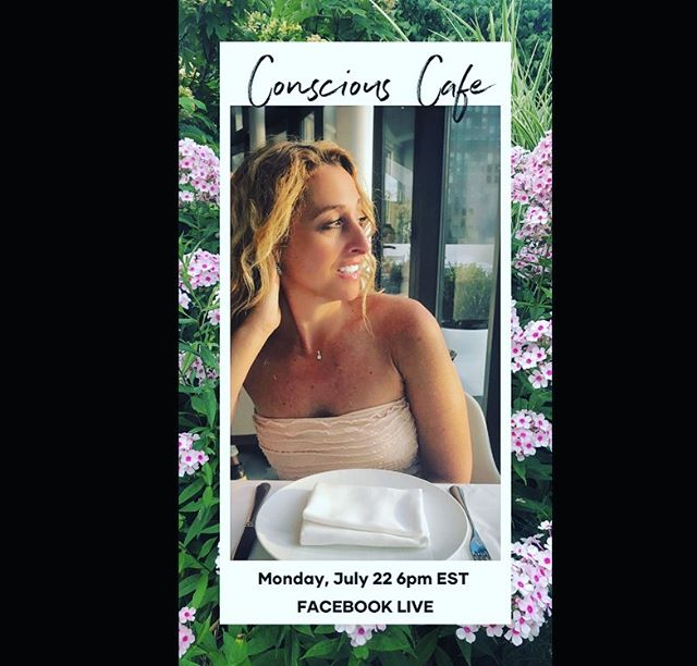 "Join me tomorrow, Monday, July 22nd at 6pm EST on my facebook page for a LIVE 'Conscious Cafe' ""What is in your garden?"" I will do live reads, discuss fresh topics, and help kickstart your week! #FacebookLive"