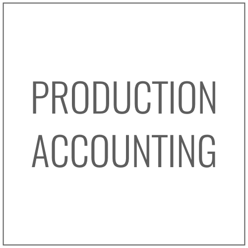 We can help manage your production through a production accountant, at a reduced rate, to manage and maintain finances.