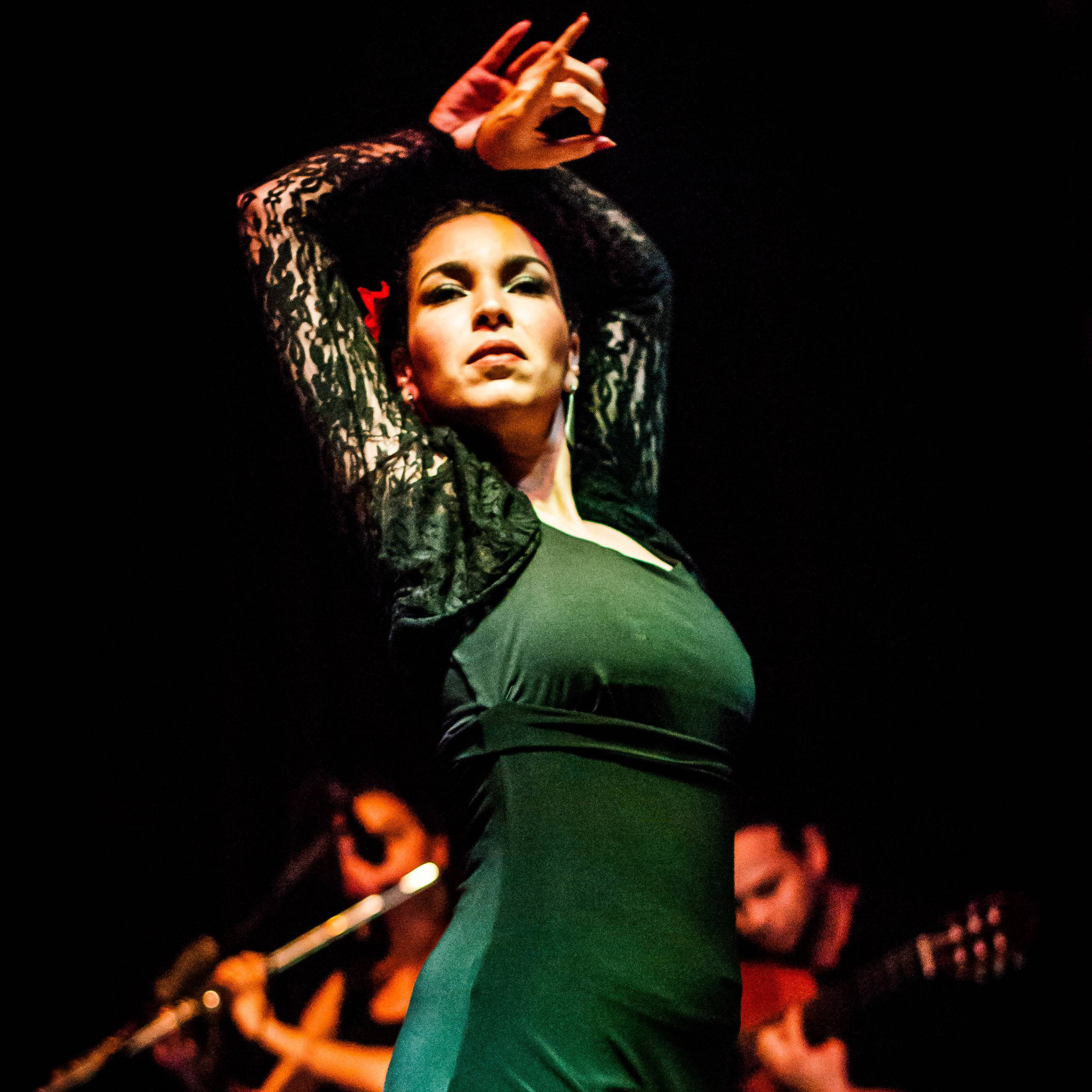 "LORENNA EUNAPIO - Flamenco Dance  Lorenna Eunapio began to study dance at the age of 5, starting with classical ballet in Brazil. Her background also includes tap dance, street, jazz, ballroom dance, and Flamenco, which she started with ten years old and got professionalized at the age of 19. Her main  maestros  were the Brazilians Ricardo Samel and Maria Thereza Canário. In Spain, she studied with La Truco, Miguel Canãs, Juana Amaya and María Juncal, and she also took several workshops with Spanish maestros such as Domingo Ortega, Inmaculada Ortega, Carmen La Talegona, Concha Jareño, Belén Maya, Manuel Reyes, Pol Vaquero, Isaac de los Reyes, Manuel Liñan, and Rafaela Carrasco, to name a few.  Lorenna worked as a  maestra  from 2004 to 2018 in several dance schools in Rio de Janeiro, Brazil. She danced professionally at Raga Group (fusion dance) from 2005 to 2006, at Maria Thereza Canário Dance Company from 2009 to 2018, in special shows with Spanish  bailaores  such as Pol Vaquero, Isaac de los Reyes and Domingo Ortega, and as a solo artist in several  tablaos  in Brazil.  As a Flamenco enthusiast, Lorenna led the ""Flamenco in Rio"" project for many years, including the organization of more than 25  tablaos  and a Flamenco blog, which is still online.  In Canada, Lorenna is a student of the Academy of Spanish Dance, led by the  maestra  Esmeralda Enrique."